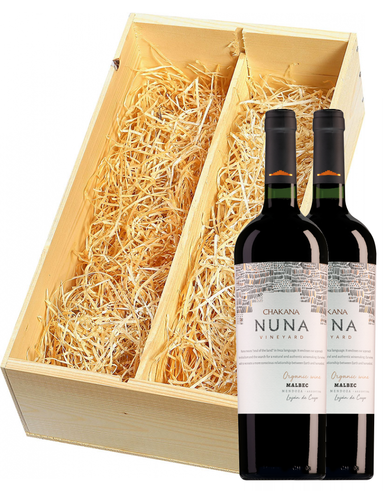 Wijnkist met 2 Chakana Mendoza Nuna Estate Malbec