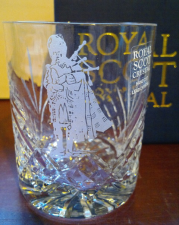 Crystal Whisky Tumbler met Piper  21cl