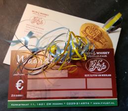 t Fust kadobon €10,00