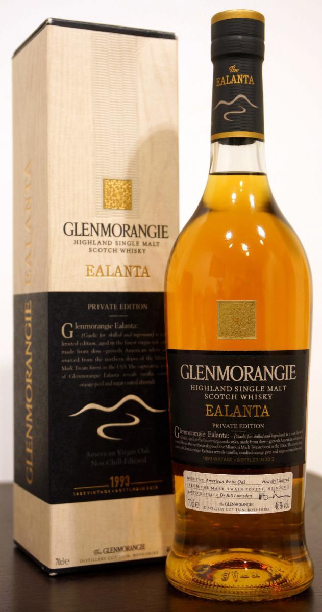 Glenmorangie Ealanta  1993 70cl  46%