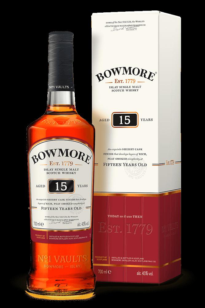 Bowmore 15yr  Islay Single malt  -70cl -43%