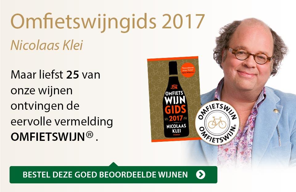 Omfietswijngids 2017 - goud/zwart