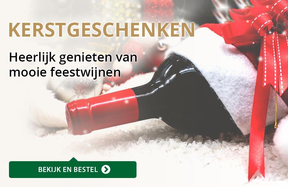 Wijngeschenken - Kerst - goud/zwart