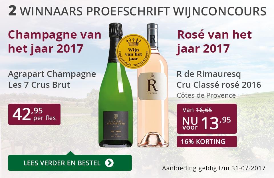 Proefschrift Wijnconcours: 2 winnaars - paars