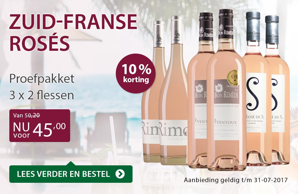 Proefpakket Zuid-Franse rosés - paars