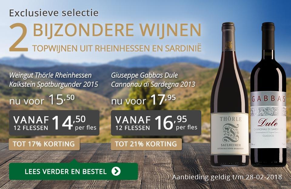 Exclusieve wijnen februari 2018 - grijs/goud
