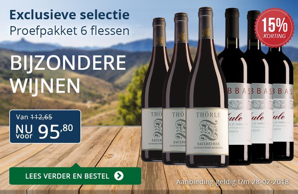 Proefpakket bijzondere wijnen februari 2018 (95,80) - blauw