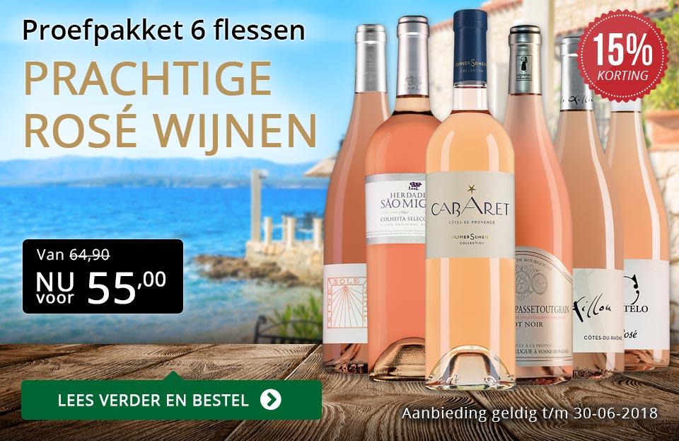 Proefpakket prachtige rosé wijnen (55,00) - goud/zwart