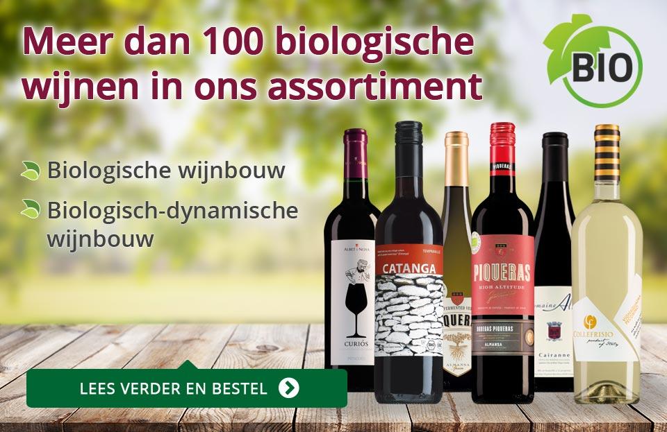 Meer dan 100 biowijnen in ons assortiment - paars