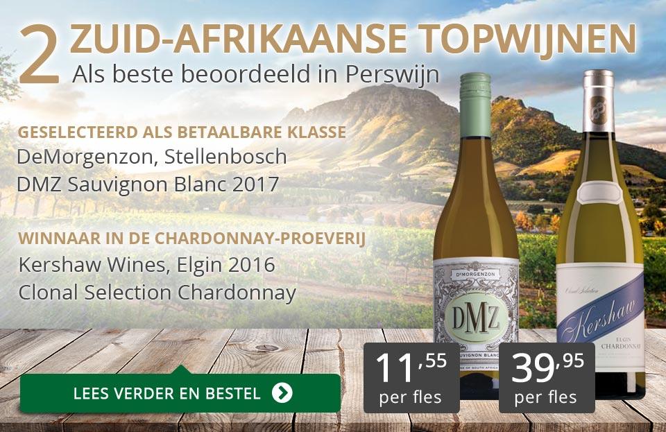 Twee Zuid-Afrikaanse topwijnen in Perswijn - goud/grijs