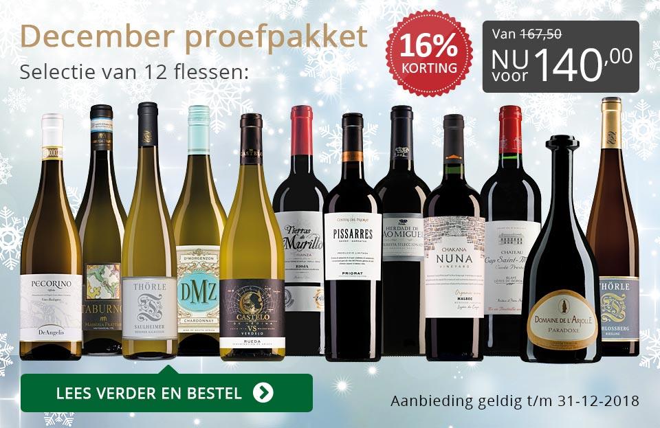 Proefpakket wijnbericht december 2018 (140,00) - grijs/goud