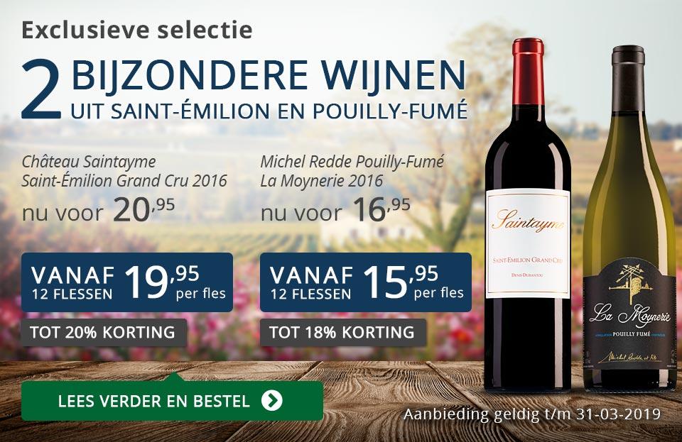 Twee bijzondere wijnen maart 2019 - blauw