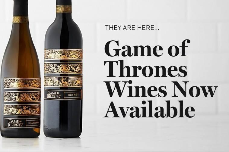 de wijnen van Game of Thrones bij `t fust te bestellen
