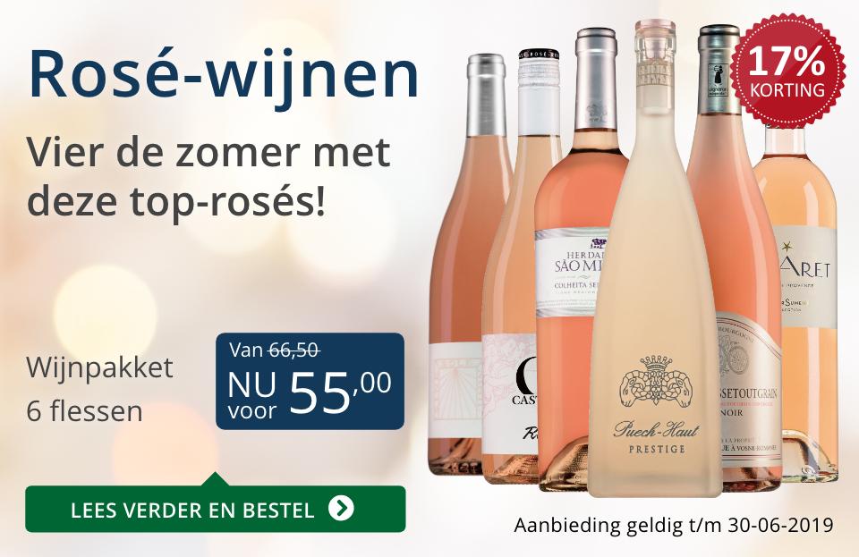 Wijnspecial Wijnpakket Rosé(55,00) - blauw