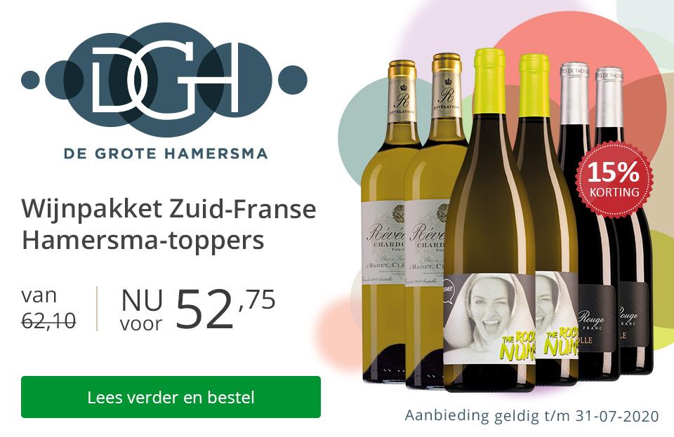 Wijnpakket Zuid-Franse Hamersma-toppers (52,75) - zonder gratis bezorging