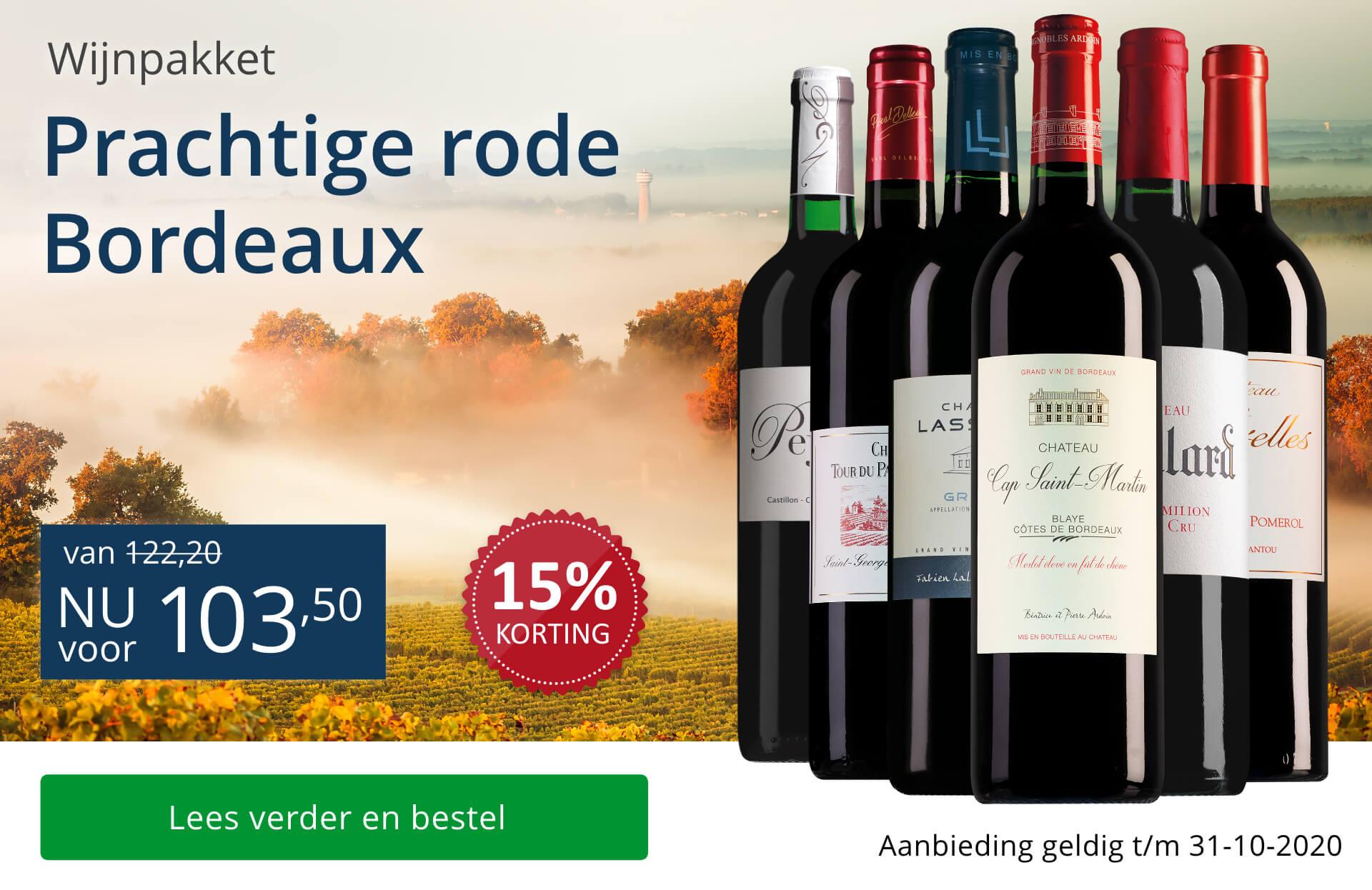 Wijnpakket rode Bordeaux (103,50) - blauw
