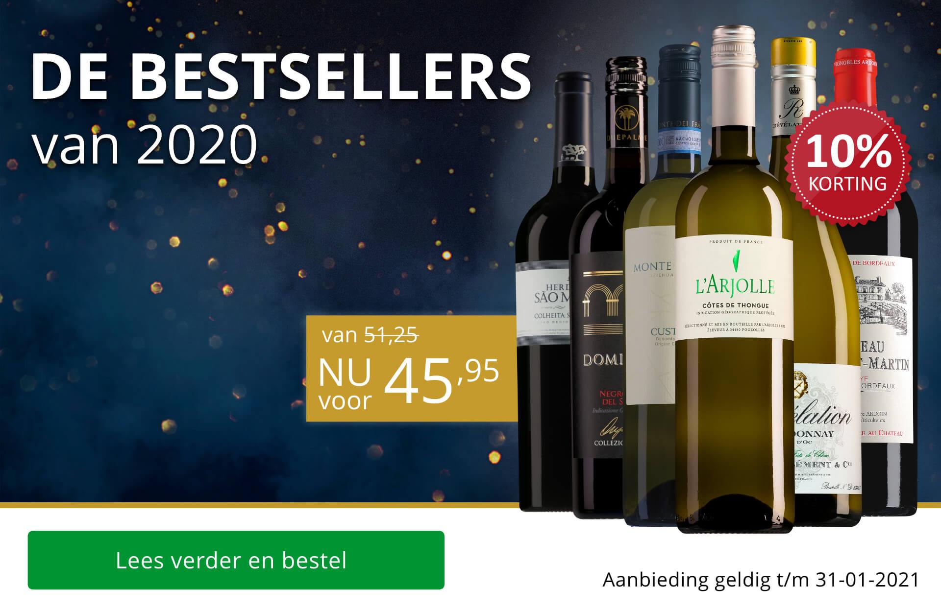 Wijnpakket Bestsellers van 2020