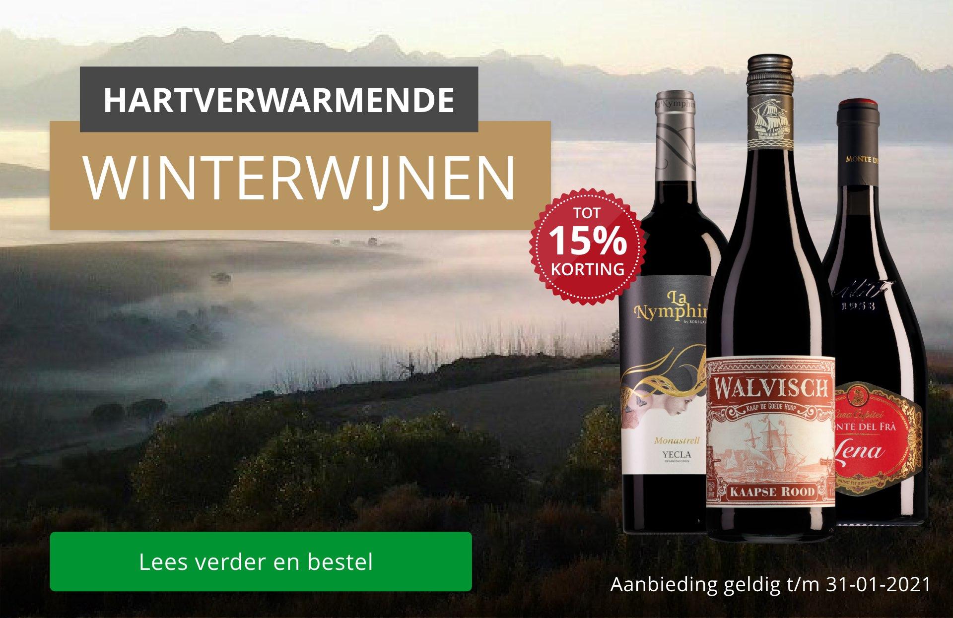 Waanzinnig winters rood onder 12 euro