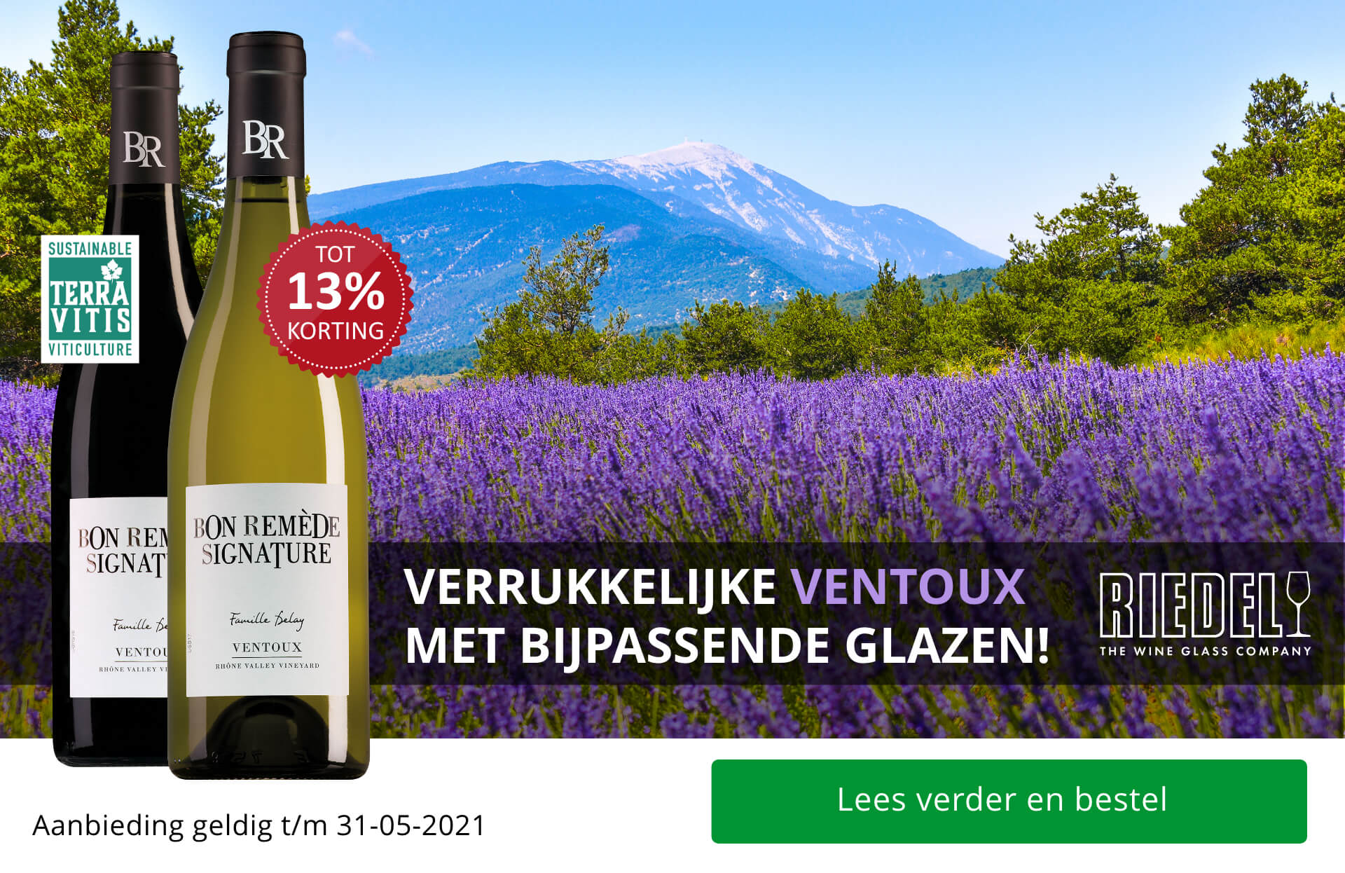 Verrukkelijke Ventoux met bijpassende glazen!