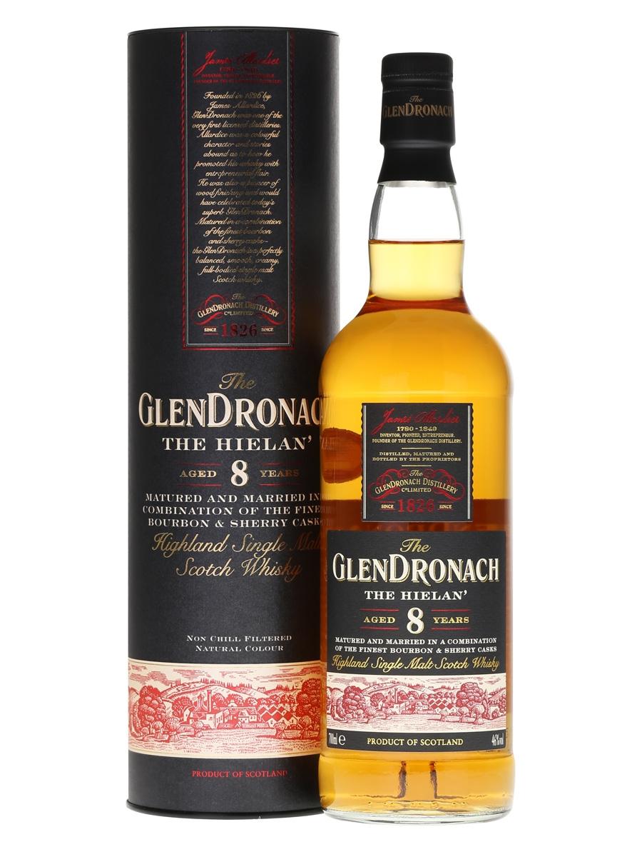 Glendronach 8yr the Hielan single malt  -70cl -46%