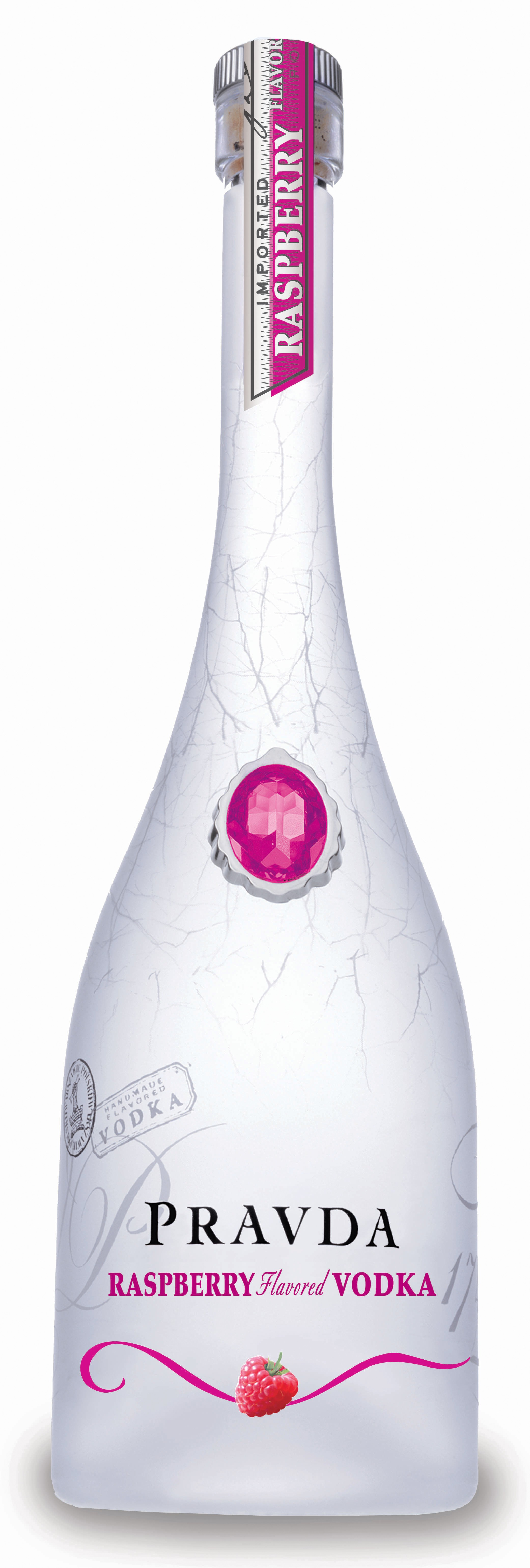 Pravda Raspberry vodka  (70cl, 37,5%)