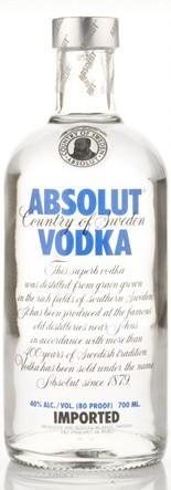 Absolut Blue vodka (70cl, 40%)