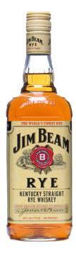 Jim Beam Rye Straight Rye Whiskey   (70cl / 40%)