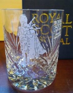 Crystal Whisky Tumbler met Piper  21cl